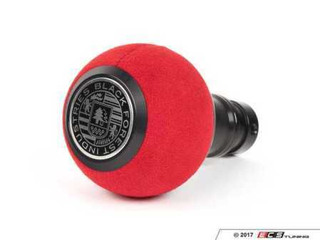 ES#3478443 - GS2DGSRU - BFI Heavy Weight Shift Knob - Red Alcantara / Black Anodized - Just because your car doesn't have a third pedal, doesn't mean you should be stuck with some goofy shifter. - Black Forest Industries - Audi Volkswagen