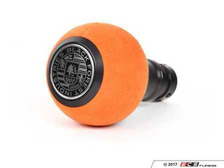 ES#3618310 - GS2SUOMINI - BFI GS2 Heavy Weight Shift Knob - Orange Alcantara - Black Anodized - A superb interior upgrade with added weight for smoother shifting for your MINI Cooper - Black Forest Industries - MINI