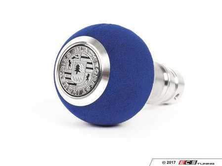 ES#3478643 - GS2LU - BFI Heavy Weight Shift Knob - Blue Alcantara  - Weighing in at approximately 215 grams the added inertial mass makes shifting effort substantially less while speeding up the process at the same time. - Black Forest Industries - Audi Volkswagen