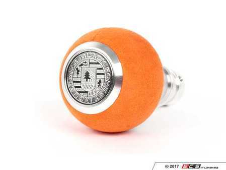ES#3478652 - GS2UO - BFI Heavy Weight Shift Knob - Orange Alcantara  - Weighing in at approximately 215 grams, the added inertial mass makes shifting effort substantially less while speeding up the process at the same time. - Black Forest Industries - Audi Volkswagen