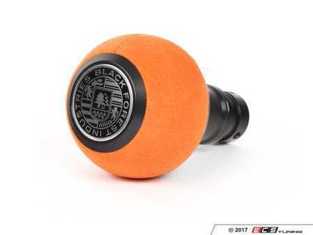 ES#3478653 - GS2SUO - BFI Heavy Weight Shift Knob - Orange Alcantara / Black Anodized - Weighing in at approximately 215 grams, the added inertial mass makes shifting effort substantially less while speeding up the process at the same time. - Black Forest Industries - Audi Volkswagen