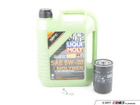 ES#3470583 - M20IN1mgKT - Liqui Moly MolyGen Oil Change Kit / Inspection I - Includes five quarts of Liqui Moly MolyGen 5w-40 semi-synthetic engine oil, Mann oil filter and new drain plug - Assembled By ECS - BMW