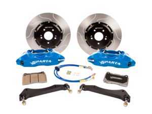 ES#3490857 - SPS.M1.3145 - Saturn Big Brake Kit - Front - Featuring Spartan Evolution's massive Saturn 4-Piston forged calipers and high quality 2-Piece rotors for extreme stopping power at a reduced cost. - Sparta Evolution - BMW