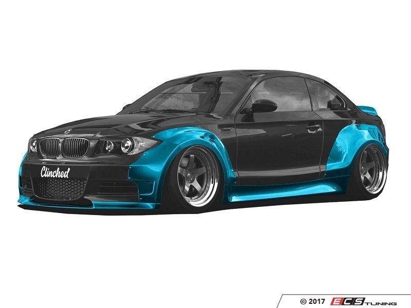 clinched bmw e82 e82 widebody kit with ducktail and. Black Bedroom Furniture Sets. Home Design Ideas
