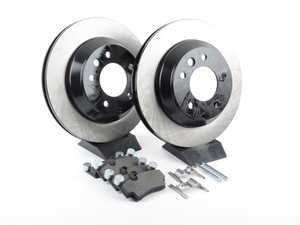 ES#3223635 - 909.33527 - Preferred Axle Pack Service Kit - Rear (330x28) - Features high carbon rotors and Posi-Quiet pads - Centric - Audi Volkswagen Porsche