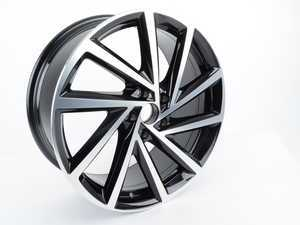 """ES#3423671 - 5G0601025DBFZZ - 19"""" Englishtown - Priced Each - 19""""x8"""" ET50 5x112 - Aluminum/Gloss Black - Genuine Volkswagen Audi - Volkswagen"""