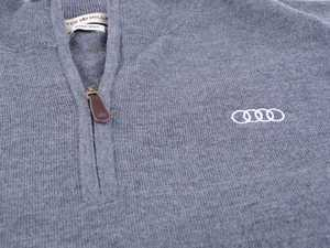 ES#3109178 - ACM1997CHALG - Peter Millar 1/4 Zip Sweater - Large - 100% merino wool. Classic fit. - Genuine Volkswagen Audi - Audi BMW Volkswagen Mercedes Benz MINI Porsche