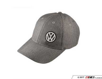ES#3232986 - DRG004982 - VW Slub Cap - (NO LONGER AVAILABLE) - Structured suiting fabric and a velcro closure - Genuine Volkswagen Audi -