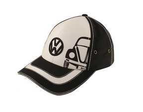 ES#2913808 - DRG014030 - Beetle Cap  - Once you see the iconic Beetle outline, no explanation is necessary. Black/White - Genuine Volkswagen Audi - Volkswagen