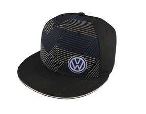 ES#2913809 - DRG014033 - ZigZag Cap  - Royal and white stitching across the front - Genuine Volkswagen Audi - Volkswagen