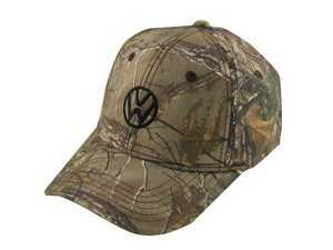 ES#1929208 - DRG014739 - Open Season Cap  - Structured, mid-profile brushed poly cotton twill cap with a pre-curved visor. Camo. - Genuine Volkswagen Audi - Volkswagen