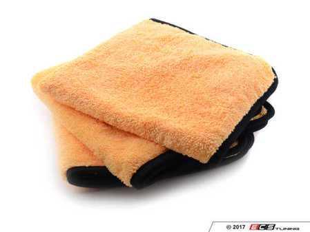 "ES#3450624 - MIC50203 - Elite Microfiber Towel - Gold With Black Edges - (16"" x 16"") - 3 Pack - Convenient 16"" x 16"" dimensions tackle any detailing task - Chemical Guys - Audi BMW Volkswagen Mercedes Benz MINI Porsche"