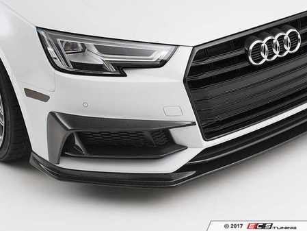 ES#3557655 - 024315ecs01KT - Complete Carbon Fiber Grille Accent And Overlay Kit - Completely change your front end appearance with the full kit! - ECS - Audi