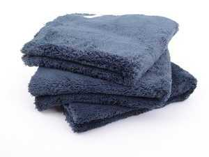 """ES#3450608 - MIC35703 - Happy Ending Edgeless Microfiber Towels - Black - (16"""" X 16"""") - 3 Pack - 16"""" x 16"""" for ideal handling and control while detailing - Chemical Guys - Audi BMW Volkswagen Mercedes Benz MINI Porsche"""