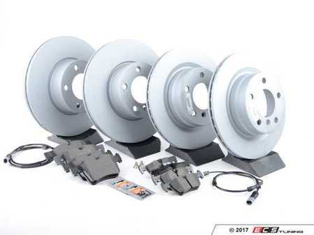 ES#3469301 - 34116792219KT6 - Front & Rear Brake Service Kit - Featuring Zimmermann rotors and Textar pads - Assembled By ECS - BMW