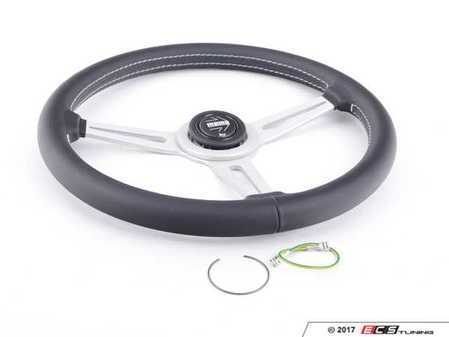 ES#3032783 - RET36BK2S - MOMO Retro Steering Wheel - 360mm - Customize your driving experience with this fine leather steering wheel - MOMO - Audi BMW Volkswagen Mercedes Benz MINI Porsche