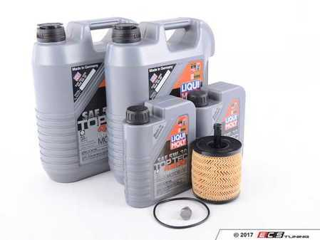 ES#3184736 - 07Z115562KT4 - Oil Service Kit - Includes Genuine oil filter and Liqui Moly 5w-30 oil - Assembled By ECS - Volkswagen