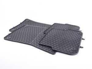 ES#3469731 - 110-003-004 - All-Weather Rubber Floor Mats - Set Of Four - Offers protection from the typical water, road salt, or tracked-in mud, to the unfortunate coffee spills and dropped snacks. - Bremmen Parts - Audi