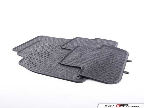 All-Weather Rubber Floor Mat Set - Black
