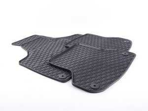 ES#3469727 - 110-003-003 - All-Weather Rubber Floor Mats - Set Of Four - Offers protection from the typical water, road salt, or tracked-in mud, to the unfortunate coffee spills and dropped snacks. - Bremmen Parts - Audi