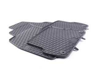 ES#3469729 - 110-003-002 - All-Weather Rubber Floor Mats - Set Of Four - Offers protection from the typical water, road salt, or tracked-in mud, to the unfortunate coffee spills and dropped snacks. - Bremmen Parts - Audi