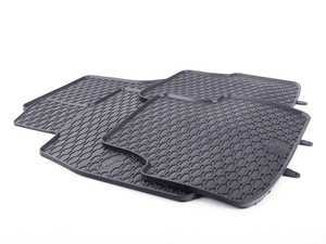 ES#3469728 - 110-003-001 - All-Weather Rubber Floor Mats - Set Of Four - Offers protection from the typical water, road salt, or tracked-in mud, to the unfortunate coffee spills and dropped snacks. - Bremmen Parts - Audi