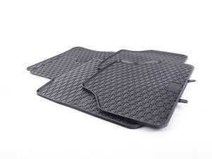 ES#3469734 - 110-004-001 - All-Weather Rubber Floor Mat Set - Black  - Offers protection from the typical water, road salt, or tracked-in mud, to the unfortunate coffee spills and dropped snacks. - Bremmen Parts - BMW