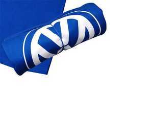 "ES#2212704 - DRG012095 - Royal Blue VW Sweatshirt Blanket  - Heavyweight fleece, 80% cotton/20% polyester, 40"" x 52"" - Genuine Volkswagen Audi - Volkswagen"