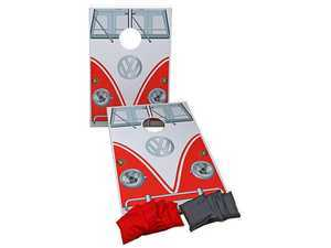 """ES#3440594 - DRG009596 - T1 Bus Corn Hole Game - Includes 2 24""""x36"""" boards and 2 sets of 4 bags - Genuine Volkswagen Audi - Volkswagen"""