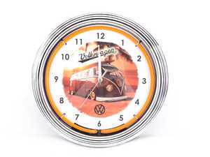 ES#3417193 - DRG009994 - VW Bus Neon Clock  - Give your home the fabulous glow of real neon! - Genuine Volkswagen Audi - Volkswagen