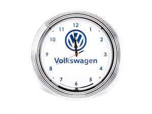 ES#3152136 - DRG009995 - VW Neon Clock - Give your home the fabulous glow of real neon! - Genuine Volkswagen Audi - Volkswagen