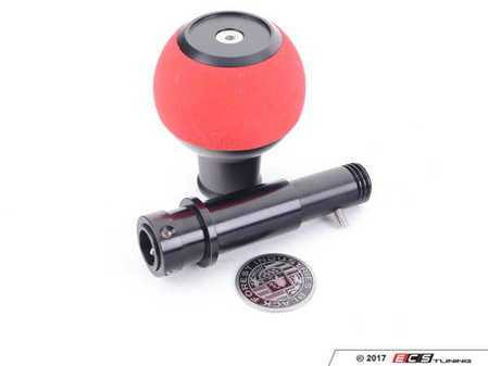 ES#3618124 - GS2SRUMINI - BFI GS2 Heavy Weight Shift Knob - Red Alcantara - Black Anodized - A superb interior upgrade with added weight for smoother shifting for your MINI Cooper - Black Forest Industries - MINI