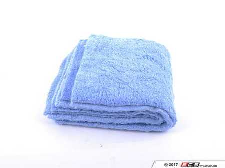 """ES#3450602 - MIC35003 - Happy Ending Edgeless Microfiber Towel - Blue - (16"""" X 16"""") - 3 Pack - 16"""" x 16"""" for ideal handling and control while detailing - Chemical Guys - Audi BMW Volkswagen Mercedes Benz MINI Porsche"""