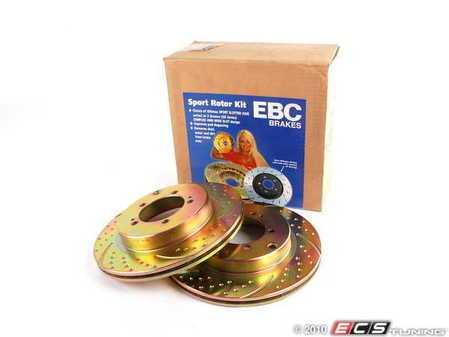 ES#522220 - GD887 - EBC Sport Rotor Kit (two Pieces) - Dodge/Mitsubishi - Rear - EBC -