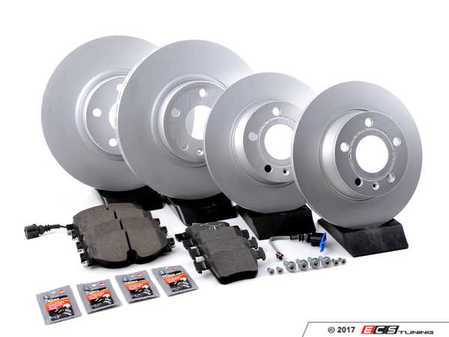 ES#3184435 - 1K0615301AAaKT11 - Front & Rear Premuim Brake Service Kit - Featuring Brembo rotors and Pagid Brake pads - Assembled By ECS - Audi