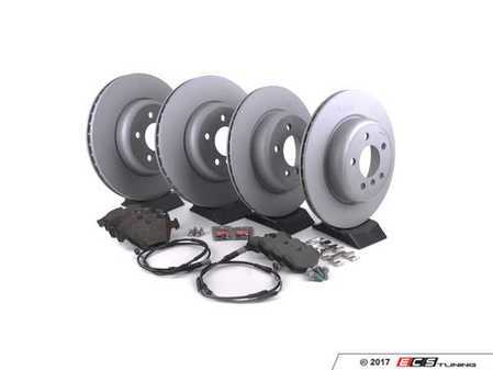 ES#3478036 - 34116775277frKT - Front And Rear Brake Service Kit - Featuring Zimmermann rotors with Pagid pads - Assembled By ECS - BMW