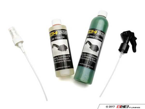 ES#3504750 - 034-108-Z035 - 034Motorsport Air Filter Cleaning Kit - Specially Formulated Cleaning Agent for Air Filters Supplied in X34 & P34 Intake Systems - 034Motorsport - Audi BMW Volkswagen Mercedes Benz MINI Porsche
