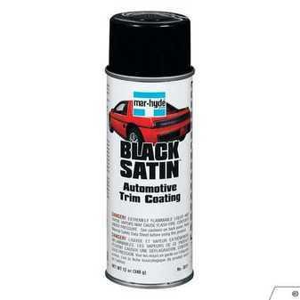 ES#3505071 - MHD3811 - Mar-Hyde Black Satin Aerosol Paint - Black Satin Automotive Trim Coating - Mar-hyde - Audi BMW Volkswagen Mercedes Benz MINI Porsche