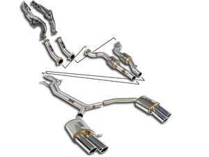 ES#3506460 - K767720 - Street Performance Pack Complete Exhaust System - Complete manifold-back stainless exhaust system with high-flow cats and quad round, polished tips - Supersprint - Audi