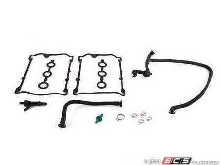 ES#1899537 - 3b0198002 - Emissions Service Kit - Stage 2 - Stage 1 kit plus valve cover gaskets - Assembled By ECS - Audi Volkswagen