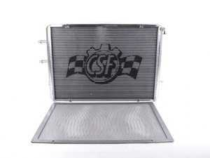 ES#3194402 - 8075 - Performance Aluminum Radiator - Polished Finish - Keep intake temperatures low with this dual-core heat exchanger! - CSF - BMW