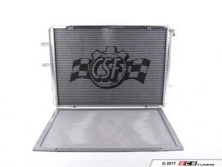 ES#3194402 - 8075 - Performance Aluminum Heat Exchanger - Polished Finish - Keep intake temperatures low with this dual-core heat exchanger! - CSF - BMW