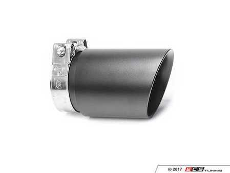 """ES#3508498 - EX-91-72CMB - 3.5"""" Clamp On Exhaust Tip - Matte Black - Stainless Steel exhaust tip featuring clamp on attachment. 3"""" Inlet / 3.5"""" Double Wall, Slant Cut Outlet - 42 Draft Designs - Audi BMW Volkswagen"""