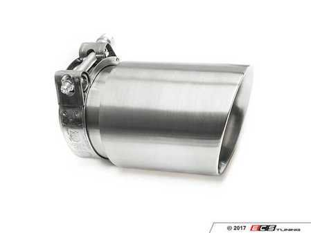 "ES#3508496 - EX-91-72CBR - 3.5"" Clamp On Exhaust Tip - Brushed - Stainless Steel exhaust tip featuring clamp on attachment. 3"" Inlet / 3.5"" Double Wall, Slant Cut Outlet - 42 Draft Designs - Audi BMW Volkswagen"