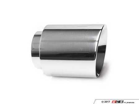 "ES#3508489 - EX-91-62WPL - 4.0"" Weld On Exhaust Tip - Polished - Stainless Steel exhaust tip featuring weld on attachment. 3"" Inlet / 4"" Double Wall, Slant Cut Outlet - 42 Draft Designs - Audi BMW Volkswagen"
