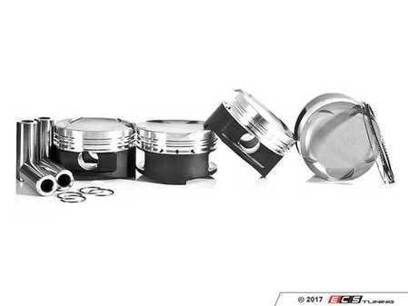 ES#3509366 - JE18T242926 - JE Performance Piston Set - Includes rings, wire locks, and wrist pins - 81.5mm bore (0.5mm overbore), 8.5:1 CR, 86.4mm stroke (stock) - JE Piston - Audi Volkswagen