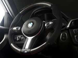 ES#3447973 - 025033ECS01 - M Sport Steering Wheel - Alcantara/Carbon Fiber - Add race inspired look and feel to your interior. Reuses factory M Sport airbag & trim. - ECS - BMW