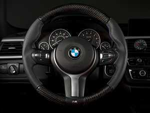 ES#3448036 - 025033ECS02 - M Sport Steering Wheel - Leather/Carbon Fiber - Add race inspired look and feel to your interior. Reuses factory M Sport airbag & trim. - ECS - BMW