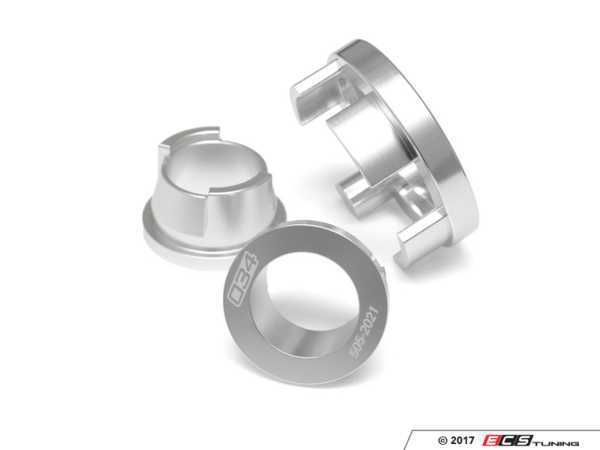 ES#3509529 - 034-505-2020 - Billet Aluminum Rear Differential Mount Insert Kit - Limits movement of factory rear diff mounts, increasing drivetrain rigidity and response! - 034Motorsport - Audi