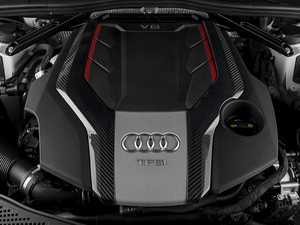 ES#3969803 - 023897ECS02 - Audi B9 Carbon Fiber Engine Cover Overlay Kit - Add a touch of carbon fiber to your stock engine cover! - ECS - Audi